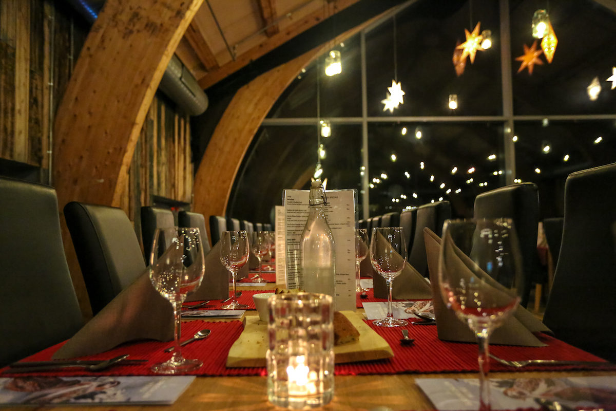 Restaurante en Snowhotel