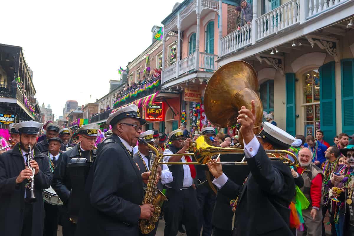 Banda mardi gras desfile