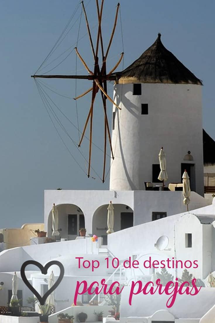 Top 10 destinos para viajar en pareja