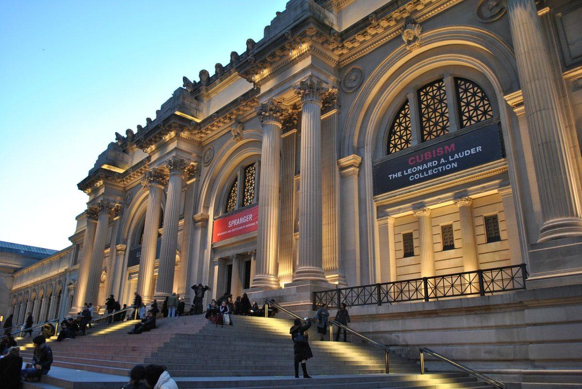 Metropolitan Museum at night. MET New York City