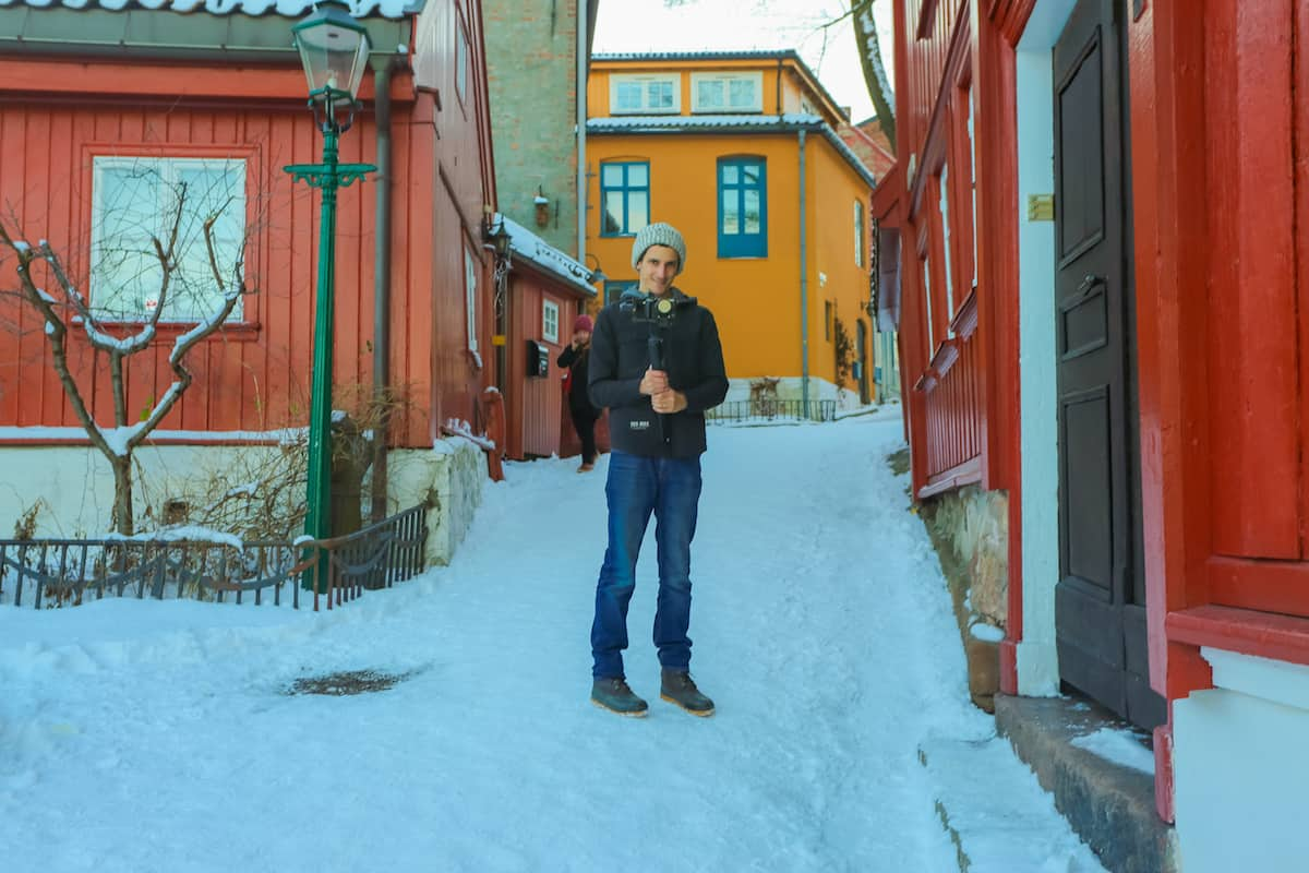 Oslo Norway colorful street