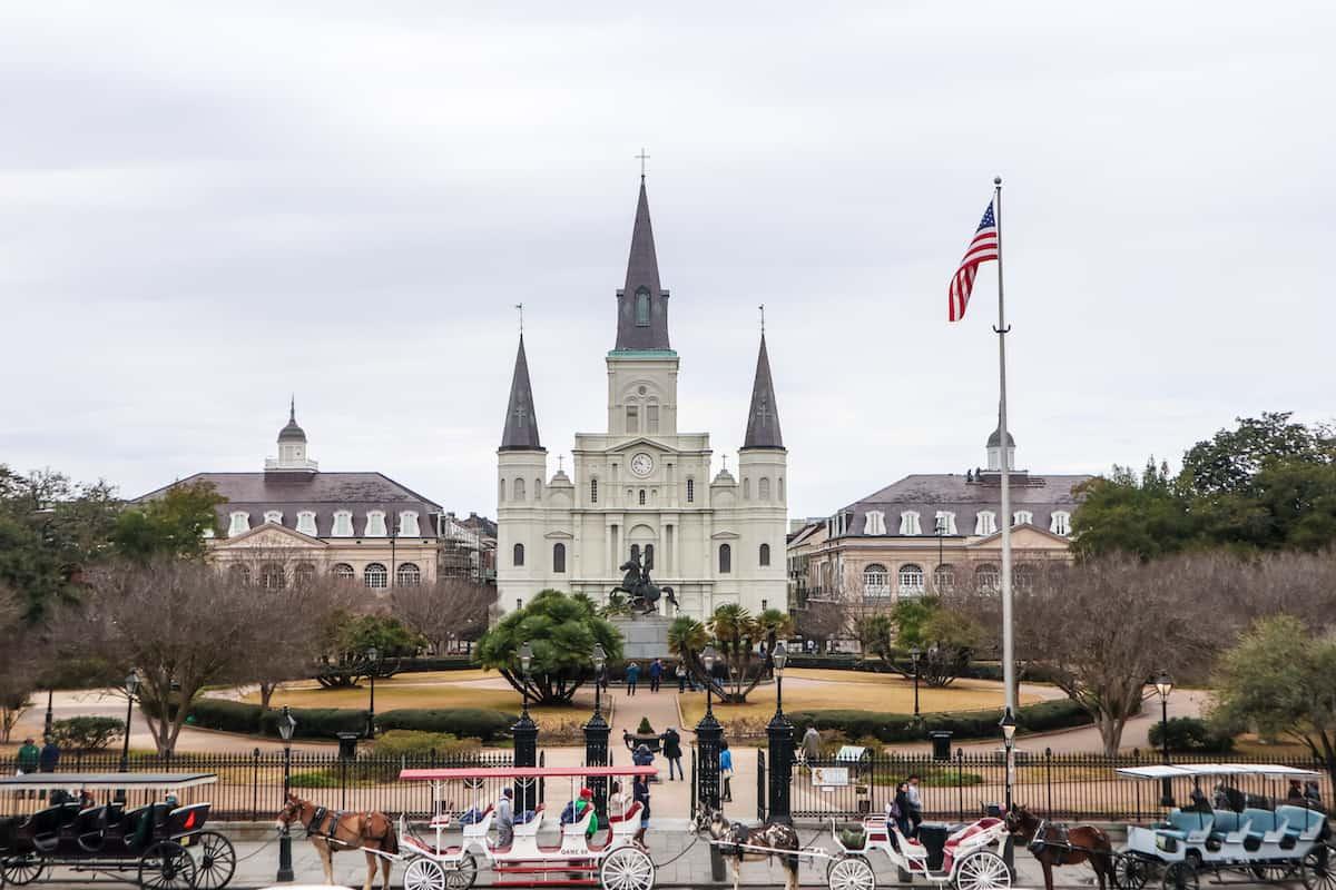plaza central de Nueva Orleans