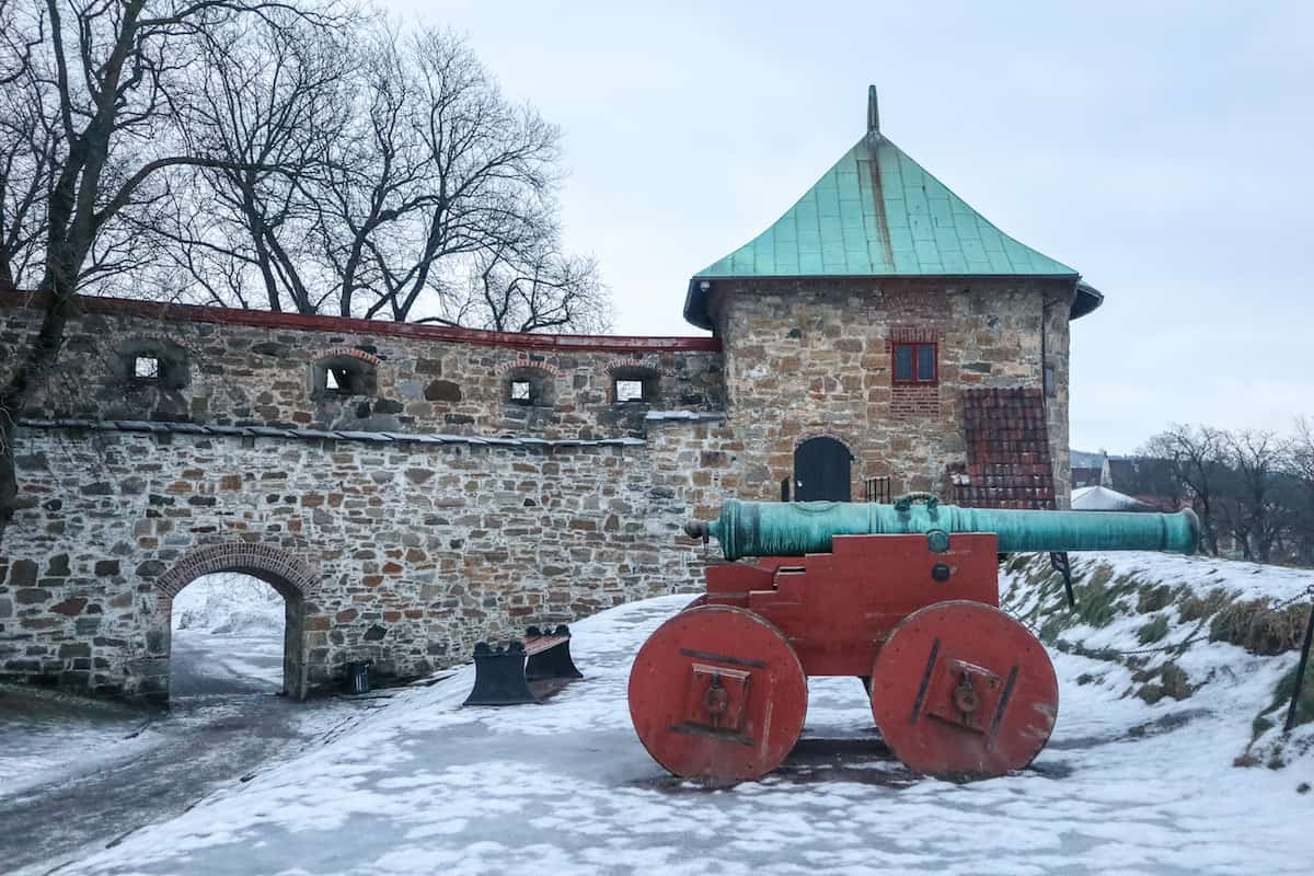 Akershus Fortress snow