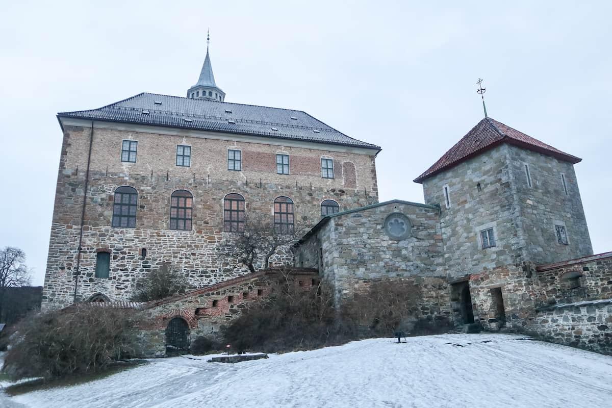Akershus Fortress in Norway - Oslo en Invierno