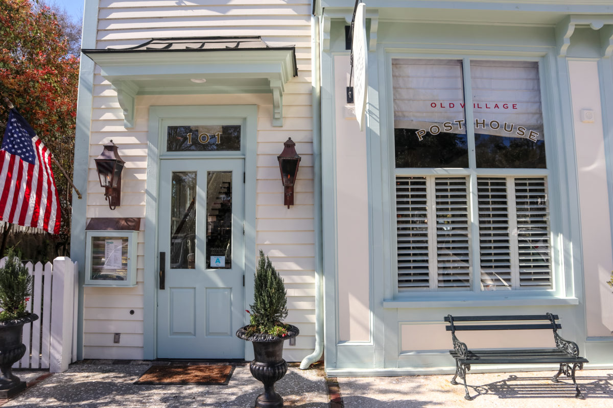 Noah and Allie take a stroll down Mount Pleasant's historic Pitt Street to the Old Village Post house for ice cream. This location was the film's fictional town of Seabrook, South Carolina.