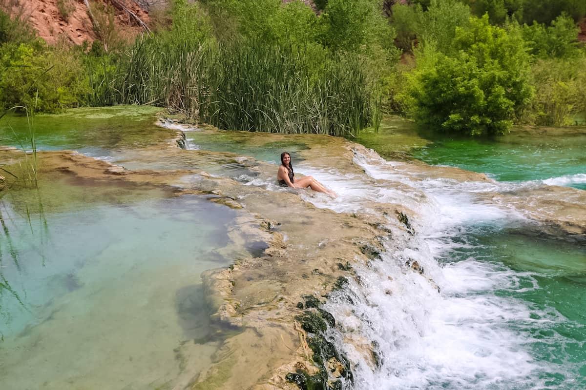 New Little Navajo Falls and the Rock Falls