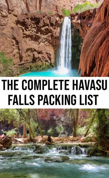 My Complete Havasu Falls Packing List