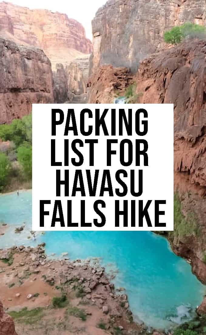 Packing List for Havasu Falls Hike