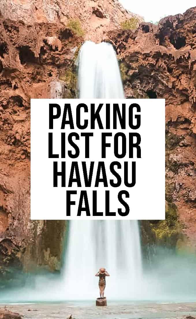 Packing List for Havasu Falls