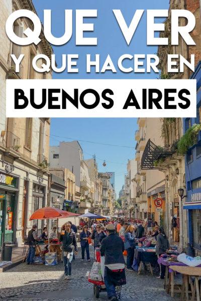 Que ver y qué hacer en Buenos Aires en tres días