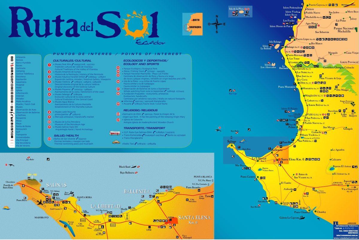 Mapa de la Ruta del Sol