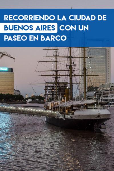 Recorrido por la ciudad de Buenos Aires en un paseo en barco