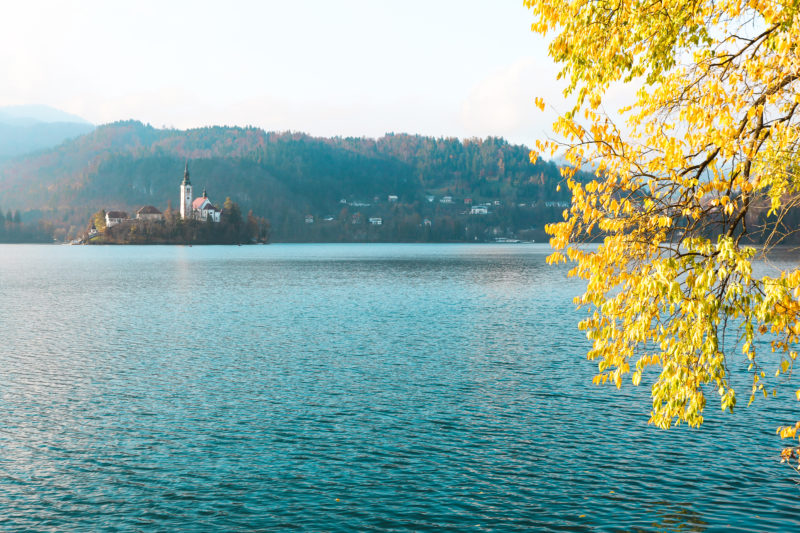 Lake Bled during fall