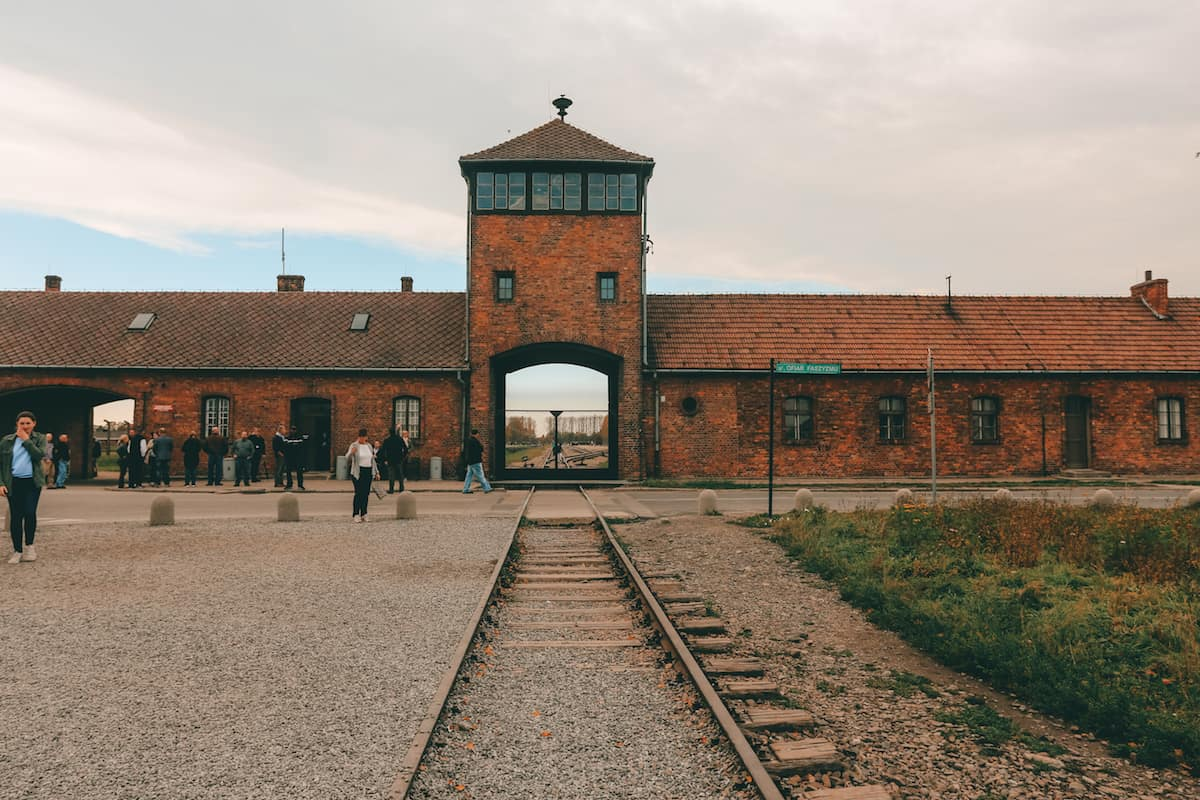 Main doors to Auschwitz