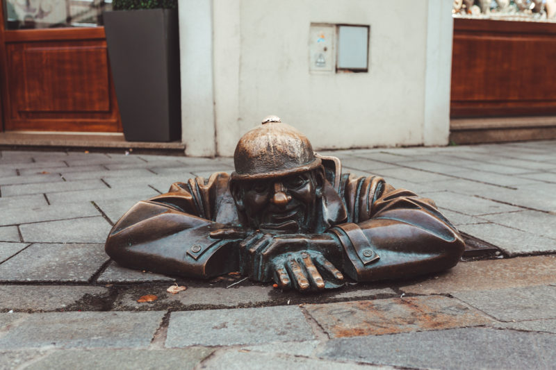 Cumil the Sewer Worker statue