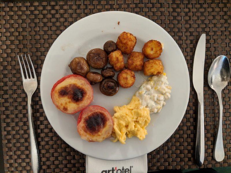 Art'Otel Budapest breakfast