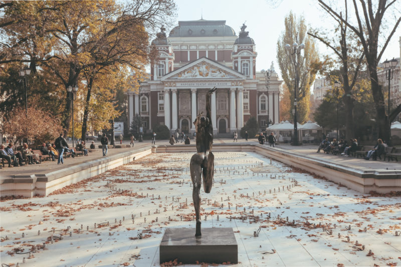 Ivan Vazov National Theater with fountain
