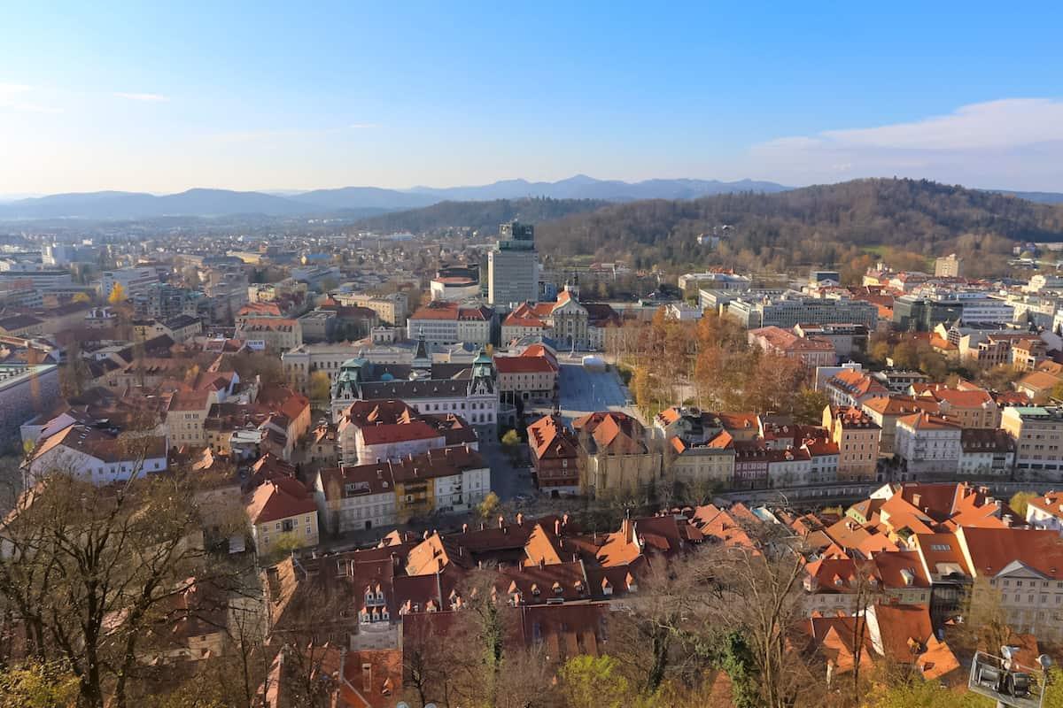 panoramic view of Ljubljana