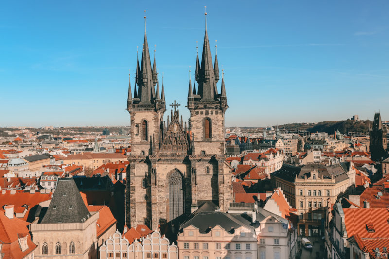 Old Town Prague view from U Prince Hotel