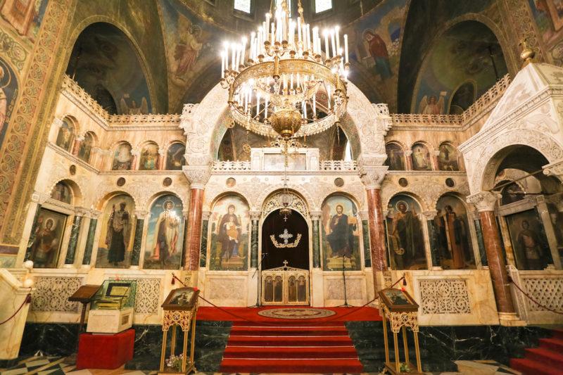 The Alexander Nevsky Cathedral inside
