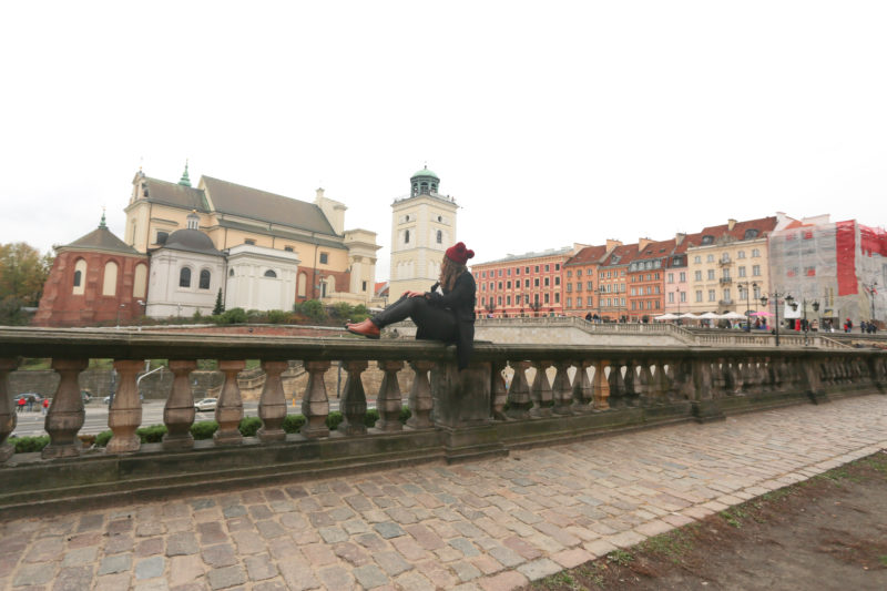 View from the Royal castle in warsaw