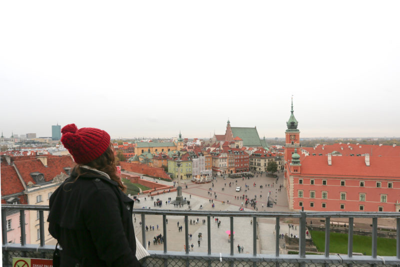 panoramic view of the square in old town Warsaw