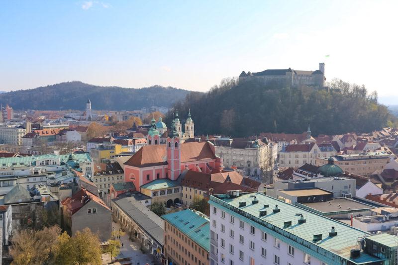panoramic view of Ljubljana castle view