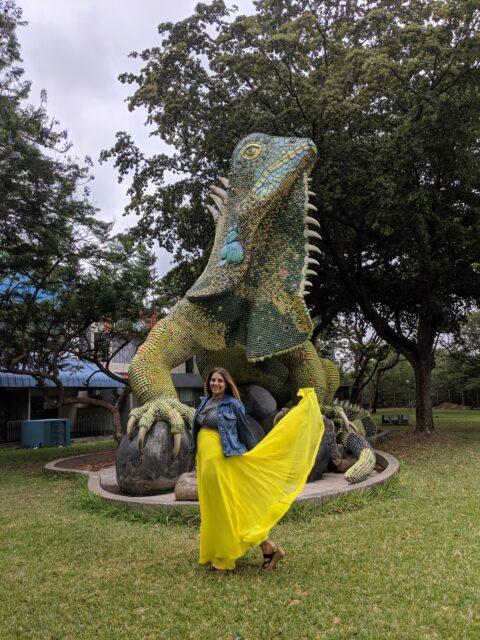Estatua de Mosaicos Iguana
