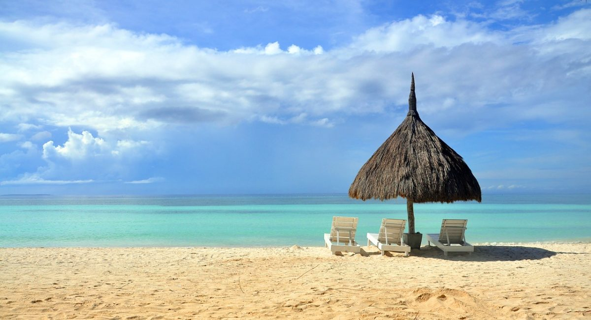 Relaxing at the beach in the philippines
