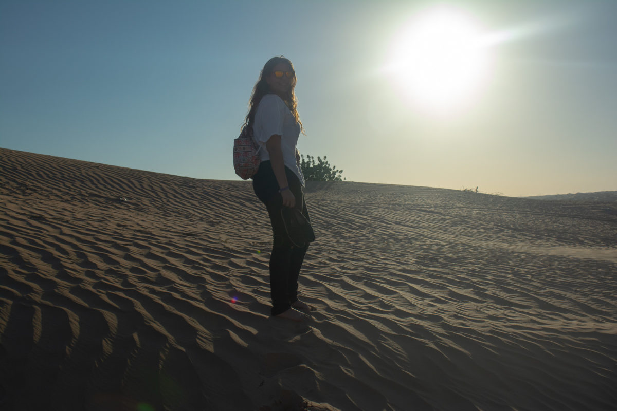 Dubai Desert Sand Dunes sunset