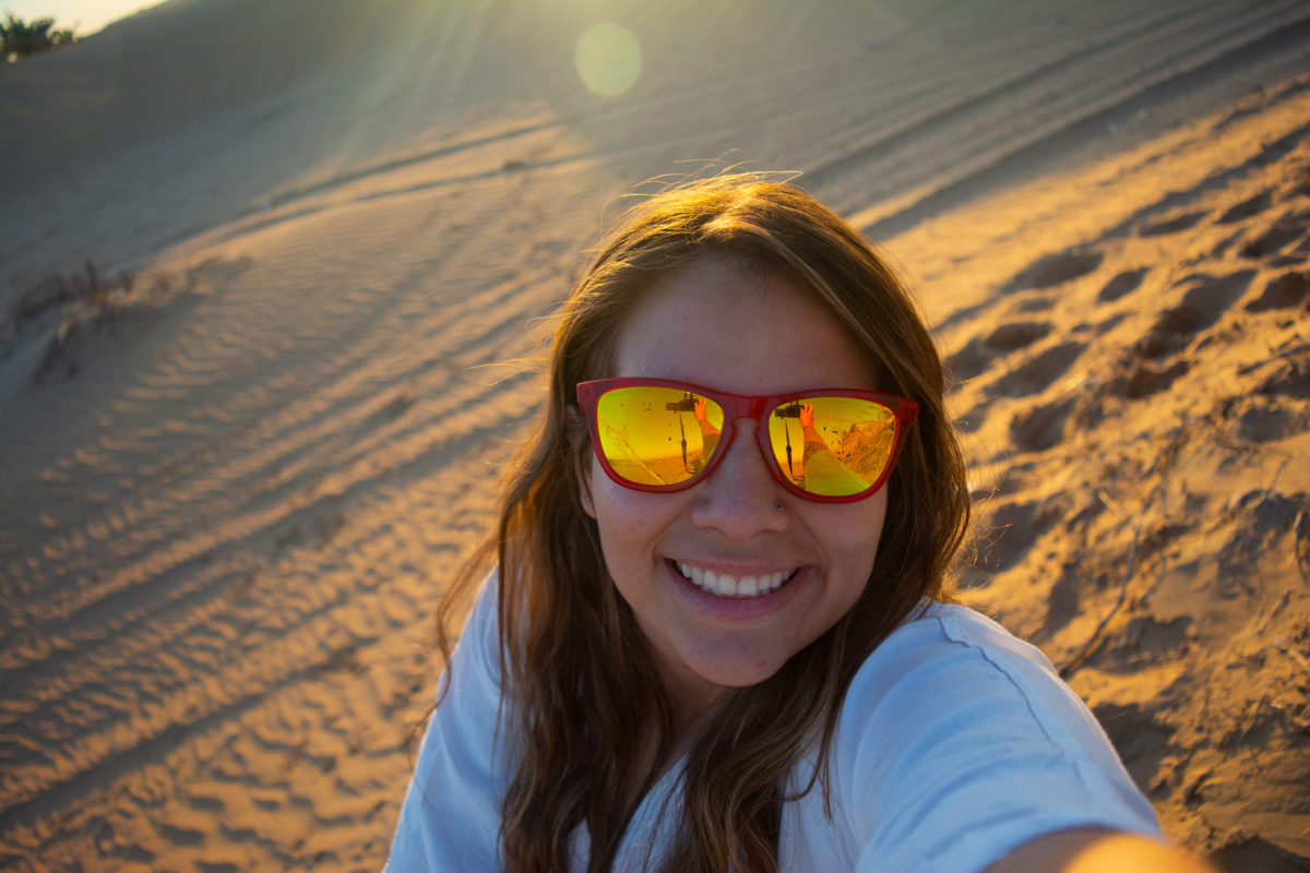 Dubai Desert Sand dunes selfie