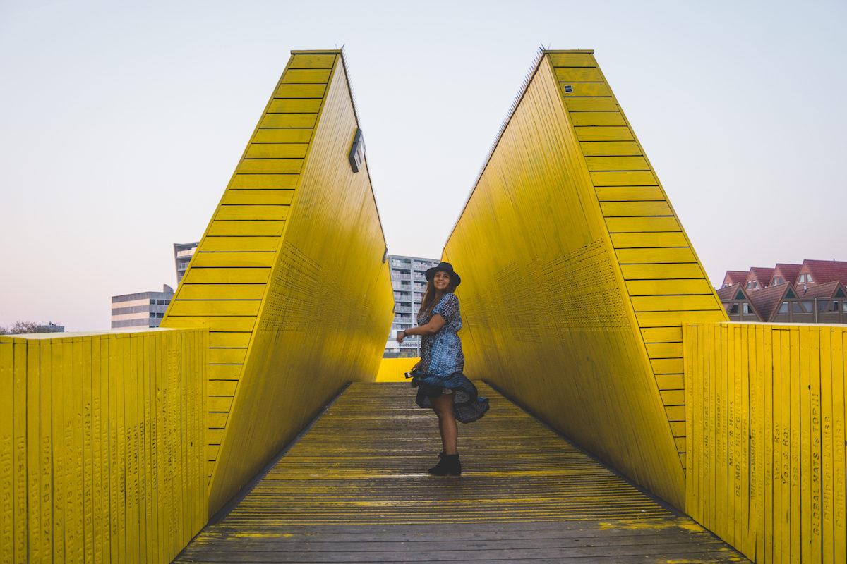 yellow bridge Rotterdam