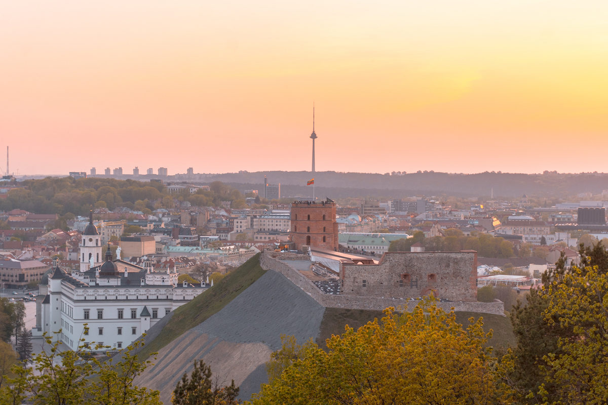 Where to get the best panoramic views of Vilnius