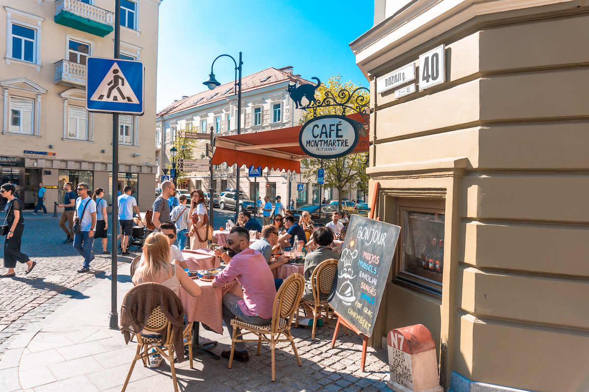 where to eat in Vilnius? Cafe Montierre