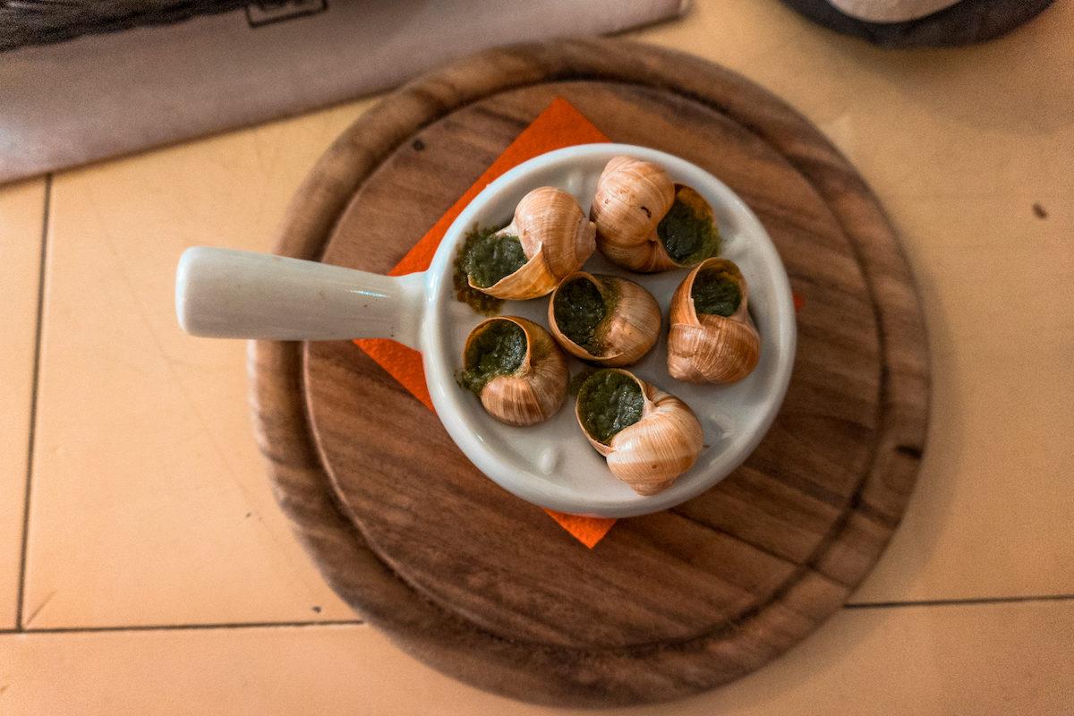 where to eat in Vilnius? escargot