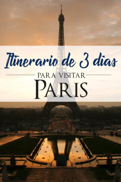 Itinerario de 3 dias para visitar Paris