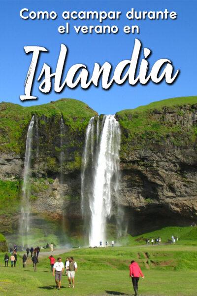como acampar en Islandia en el Verano