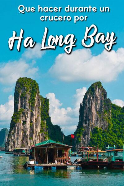 Que hacer durante un crucero por la bahía de Ha Long