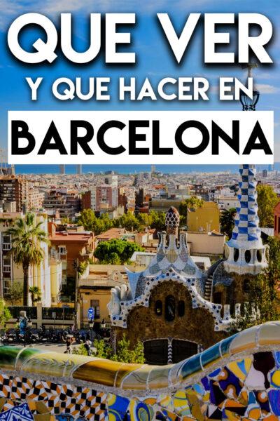 Qué ver y Qué hacer en Barcelona