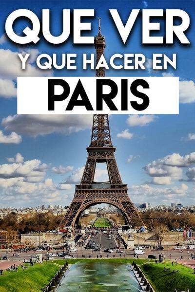 Que ver y Que hacer en Paris