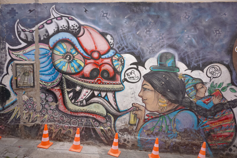 Mural in La Paz Bolivia- The best things to do in La Paz in one day