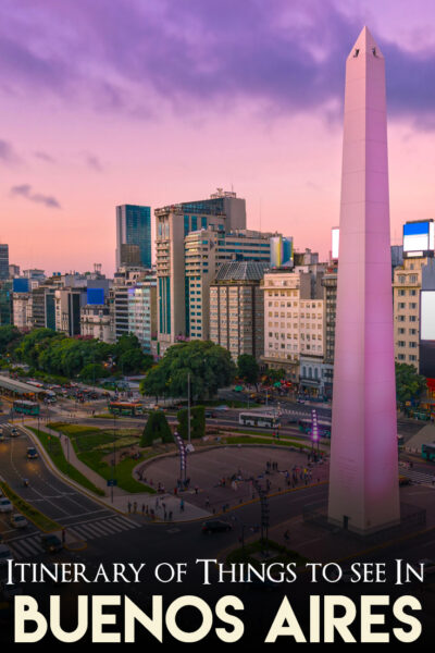 Itinerary of things to do in Buenos Aires