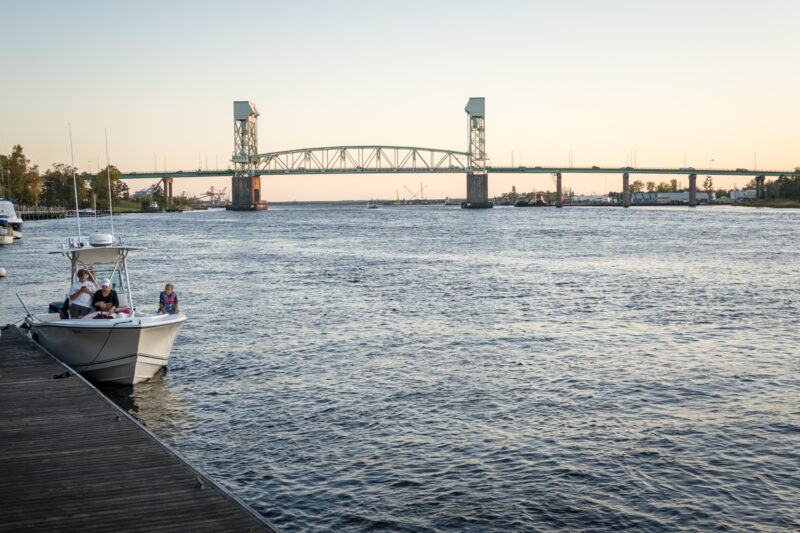 Go for a romantic stroll along the Cape Fear River