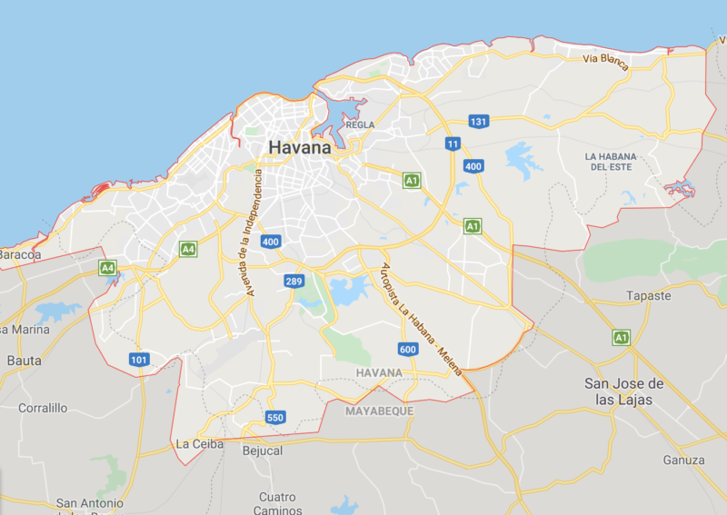 Download Google Maps offline of each Cuban city