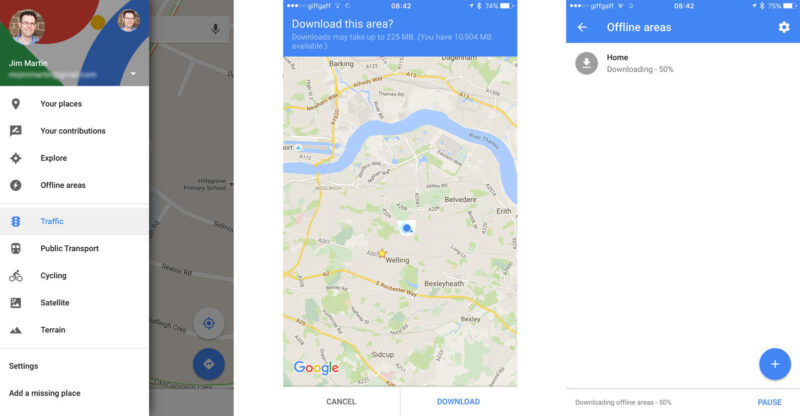Download Google Maps offline of each Cuban city
