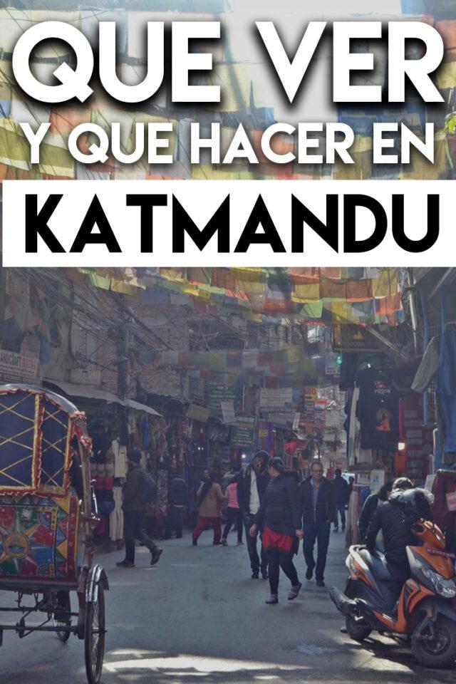 Qué ver y Qué hacer en Katmandú