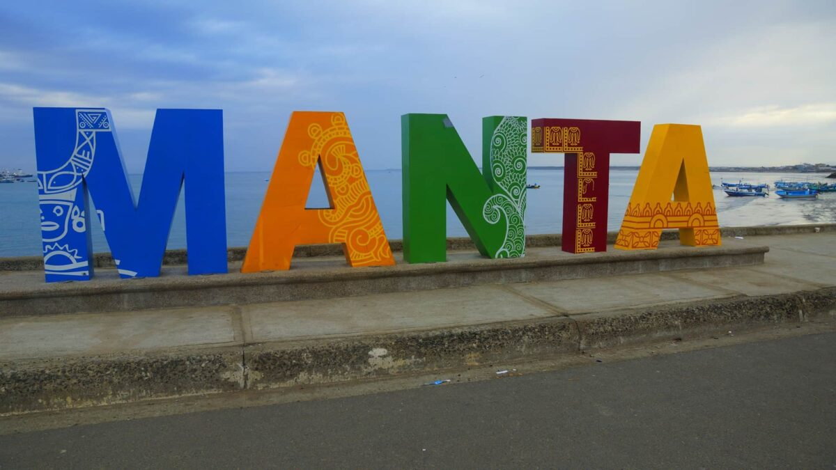 Manta Ecuador Sign